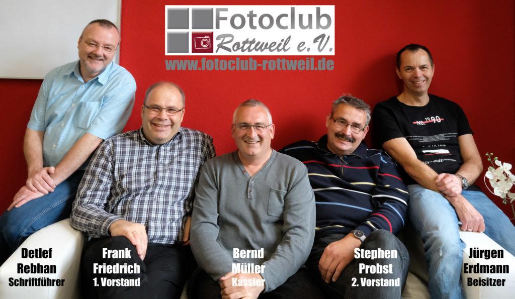Die Vorstandschaft des Fotoclub Rottweil e.V.