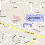 Straßenkarte zum Medienzentrum