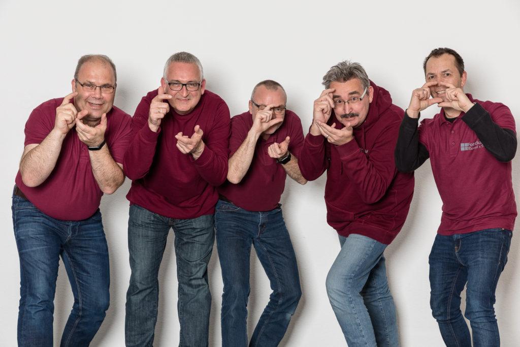 Frank Friedrich (1. Vorstand), Bernd Müller (Kassier), Detlef Rebhan (Schriftführer), Stephen Probst (2. Vorstand) und Jürgen Erdmann (Beisitzer)